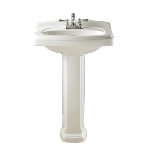 For Sale! American Standard 0555.401.020 Townsend Pedestal Bathroom Sink with 4-Inch Faucet Spacing,...