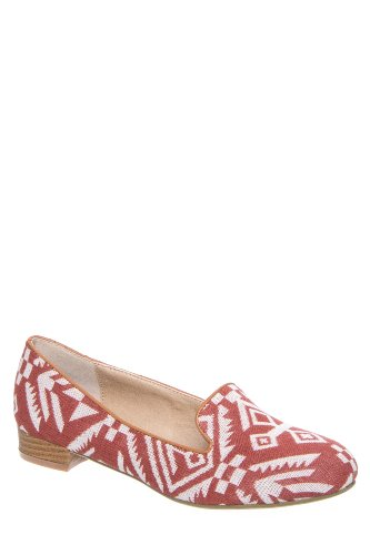 Good Choice Tribal Low Heel Smoking Slipper Loafer