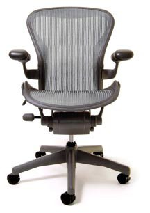 Aeron Chair - Basic by Herman Miller - Graphite Frame - Nickel Classic Size B (Medium)
