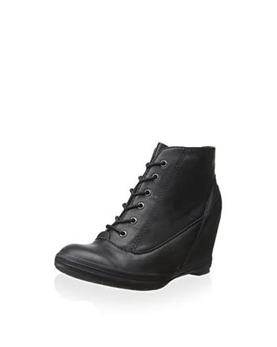 ALL BLACK Women's Hi Wedge Lace-Up Ankle Boot