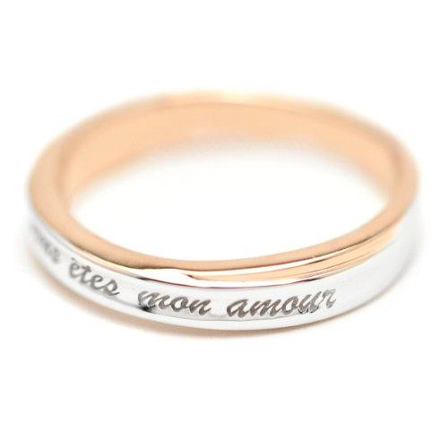 [クローストゥーミー] Close to me french lovera collection フレンチラバーズコレクション リング レディース uous etes mon amour 貴方は私の愛する人 シルバー925 SR14-018PG #13 日本サイズ13号