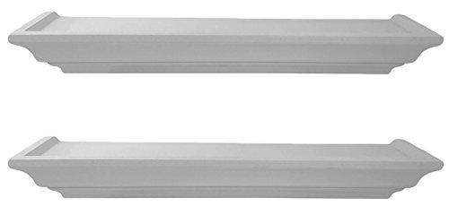 2-Stck-Wandregal-Wandboard-Wandkonsole-Regal-Hngeregal-Landhaus-Shabby-Wei-Weiss-48cm