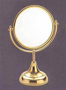 Bronze Wall Mounted Makeup Mirror front-1059571