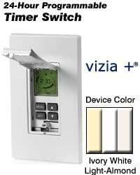 leviton 021 vpt24 1pz white decora 24 hour programmable timer. Black Bedroom Furniture Sets. Home Design Ideas
