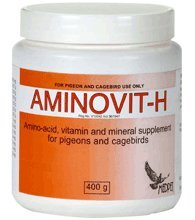 MedPet Aminovit H 400 gr. Amino-acid, vitamin, mineral and trace element supplement. For Pigeons, Birds & Poultry