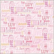 Valentine 12x12 Foil Paper 12-Pack: Love Words 