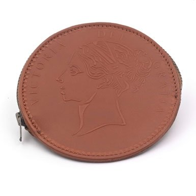 Tan One Penny Coin Purse||RF10F