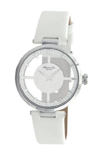 Kenneth Cole Ladies White Leather Strap Watch Kc2609
