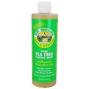 Dr. Woods Shea Vision Pure Castile Soap Tea Tree -- 16 Fl Oz