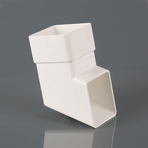 Brett Martin Squarestyle Downpipe 112,5° BR516W per scarpe, colore: bianco