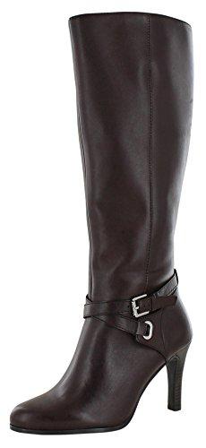 Lauren Ralph Lauren Becca Women Dress Leather Boots Heels Brown Sz 8.5