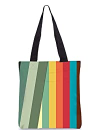 Snoogg Slant Multi Color Digitally Printed Utility Tote Bag Handbag Made Of Poly Canvas