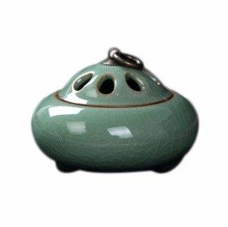 Quemadordeinciensorecipientesoporte Oval Verde