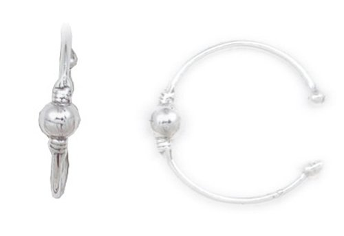 Ball n Beads Ear Cuff 925 Sterling Silver