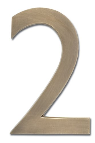 Architectural mailboxes 3585ab 2 brass 5 inch floating for Floating house letters