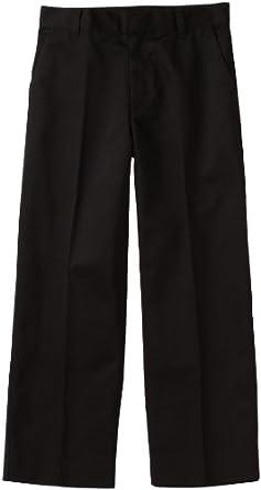 Classroom Big Boys' Uniform Flat Front Adjustable Waist Pant,Black,8
