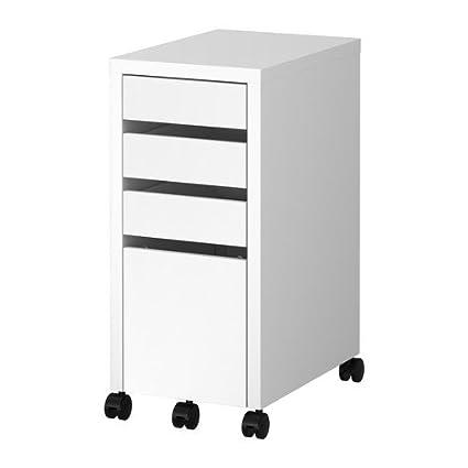 IKEA MICKE - unidad de cajón con el almacenamiento de abandono archivo, blanco - 35x75 cm