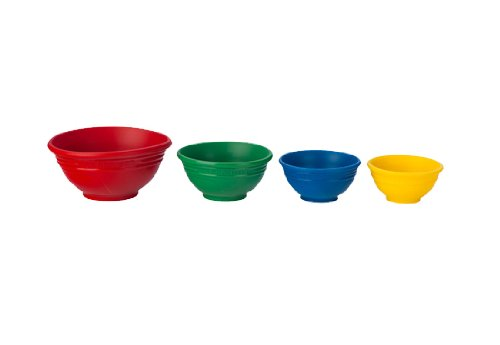 Le Creuset Silicone Prep Bowls Set of 4, Multi-colored (Le Creuset Silicone Baking Cups compare prices)
