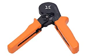 Signstek Adjusting Ratcheting Square Ferrule Wire Cable Crimper Plier Crimping Crimp Tool AWG23-10 Orange