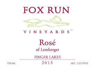 2013 Fox Run Vineyards Rose Of Lemberger 750 Ml