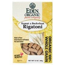 Eden Foods Rigatoni, Og, Kamut&Bckwht, 12-Ounce (Pack of 6)