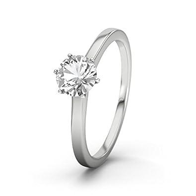 21DIAMONDS Grenada White Topaz Brilliant Cut Women's Ring-Silver Engagement Ring
