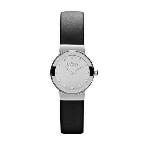 skagen-womens-358xsslbc-freja-black-leather-watch