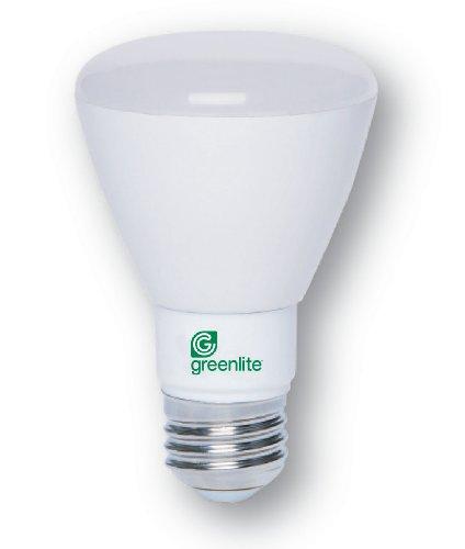 12Pk - 8W - Br20 - Medium Base - 120V - 3000K - 25,000Hrs - Dimmable Led Light Bulb - Greenlite 8Wpar20
