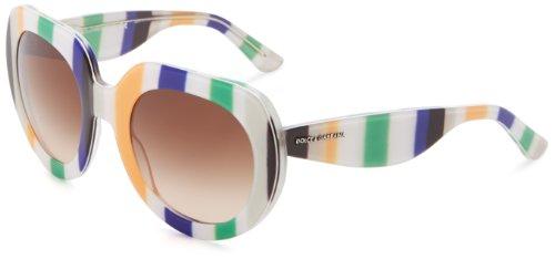 D&G Dolce & Gabbana 0Dg4191P 27231350 Oversized Sunglasses,Green & Yellow & Blue,50 Mm