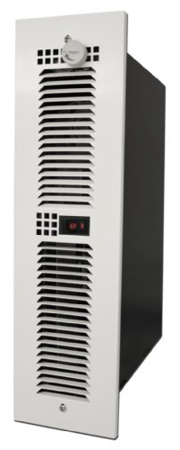 King Electric Ktw2415-Hls-Tgw 1500W 240-Volt Cabinet Heater With Hi-Low Switch And White Trim Grille For Vertical Mount