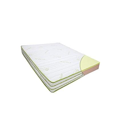 Materasso matrimoniale memory foam da 7cm extra large con rivestimento in bamboo 180x190 - modello SPLENDOR