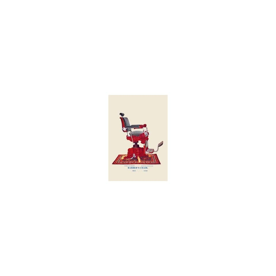 Paper poster printed on 20 x 30 stock. Hydraulic Barbers Chair #97
