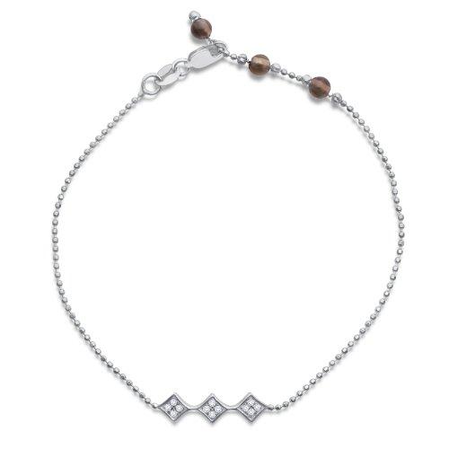Diamond Bracelet, 9ct White Gold, Diamond Bracelet, by Miore, MP9032B