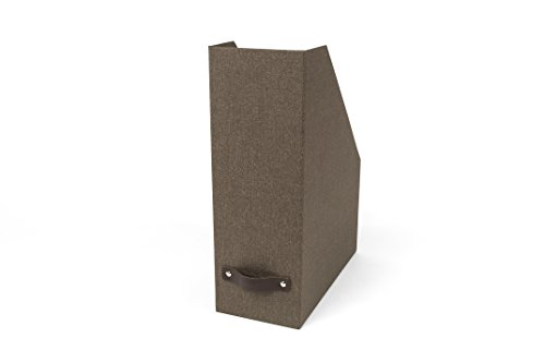 Bigso Estelle Canvas Paper Laminate Magazine File Box, Dark Brown