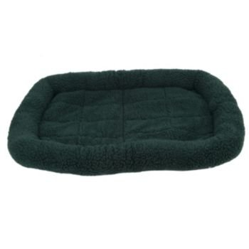 Fleece Crate Dog Bed Hunter Green 35.75 x 22.75