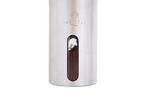 House of Barista's Ceramic Coffee Grinder - Compact & Portable Manual Burr Coffee Mill (Aeropress & French Press Compatible)