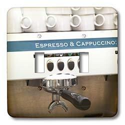 3dRose lsp_82604_2 Espresso Machine Café Stockholm Sweden Eu28 Pka0077 Per Karlsson Double Toggle Switch made by 3dRose LLC