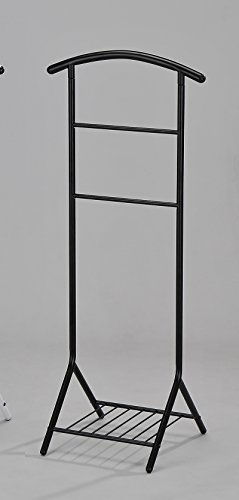 Kings Brand Black Tubular Metal Suit Valet Rack Stand Organizer (Standing Valet compare prices)