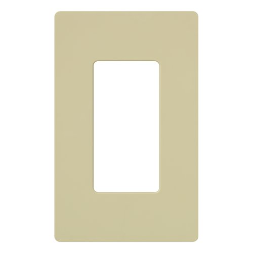 lutron-cw-1-iv-claro-1-gang-wallplate-1-pack-ivory