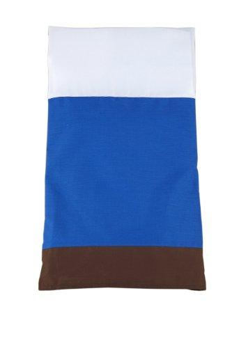 Nautica Kids Drew Full Bed Skirt, Blue/White front-1000728