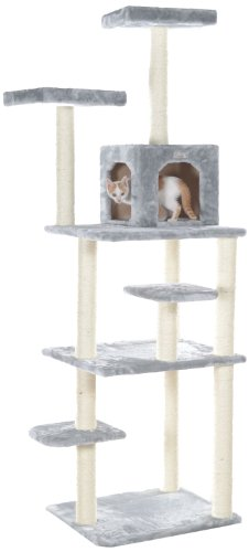 GleePet GP78740822 Cat Tree, 74-Inch, Silver Gray Gleepet B00EY98T4C
