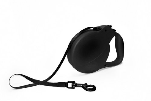 Flexi Large Retractable 26-Foot Classic Long 3 Tape Leash, Black