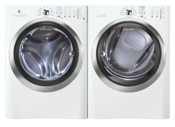 Electrolux IQ Touch White 4.30 Cu Ft (DOE) Steam Front Load Washer and Steam Electric 8.0 Cu Ft Dryer EIFLS60JIW_EIMED60JIW
