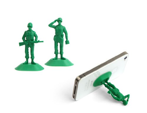 Kikkerland US27 iSoldier Phone Stand - Mount - Retail Packaging - Green