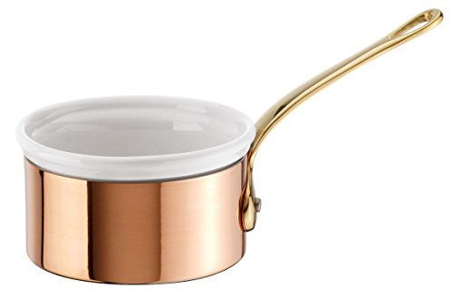 Paderno World Cuisine Mini Copper-Tin Butter Warmer with Porcelain Insert