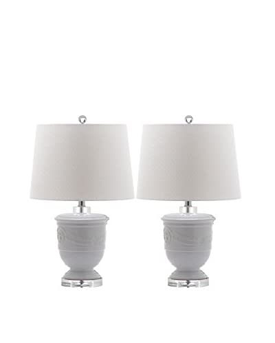 Safavieh Set of 2 Shoal Table Lamps, White/White