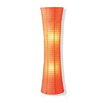 stehleuchte stehlampe papier orange lampe leuchte. Black Bedroom Furniture Sets. Home Design Ideas