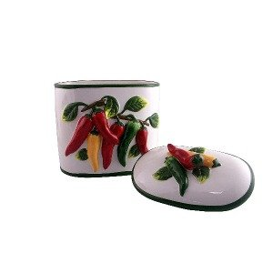 Cookie Jar Kitchen Decor Red Hot Chili Pepper