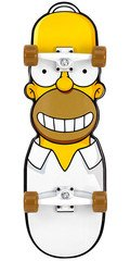 Santa Cruz Skate Simpsons the Homer Cruzer Complete Skateboard - 10.1 X 31.7 - Yellow/white