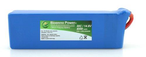 Bioenno Power Lightweight 30C, 14.8V, 4000 mAh LiPo Battery for RC Models